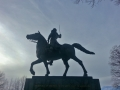 Side view of Simon Bolivar memorial