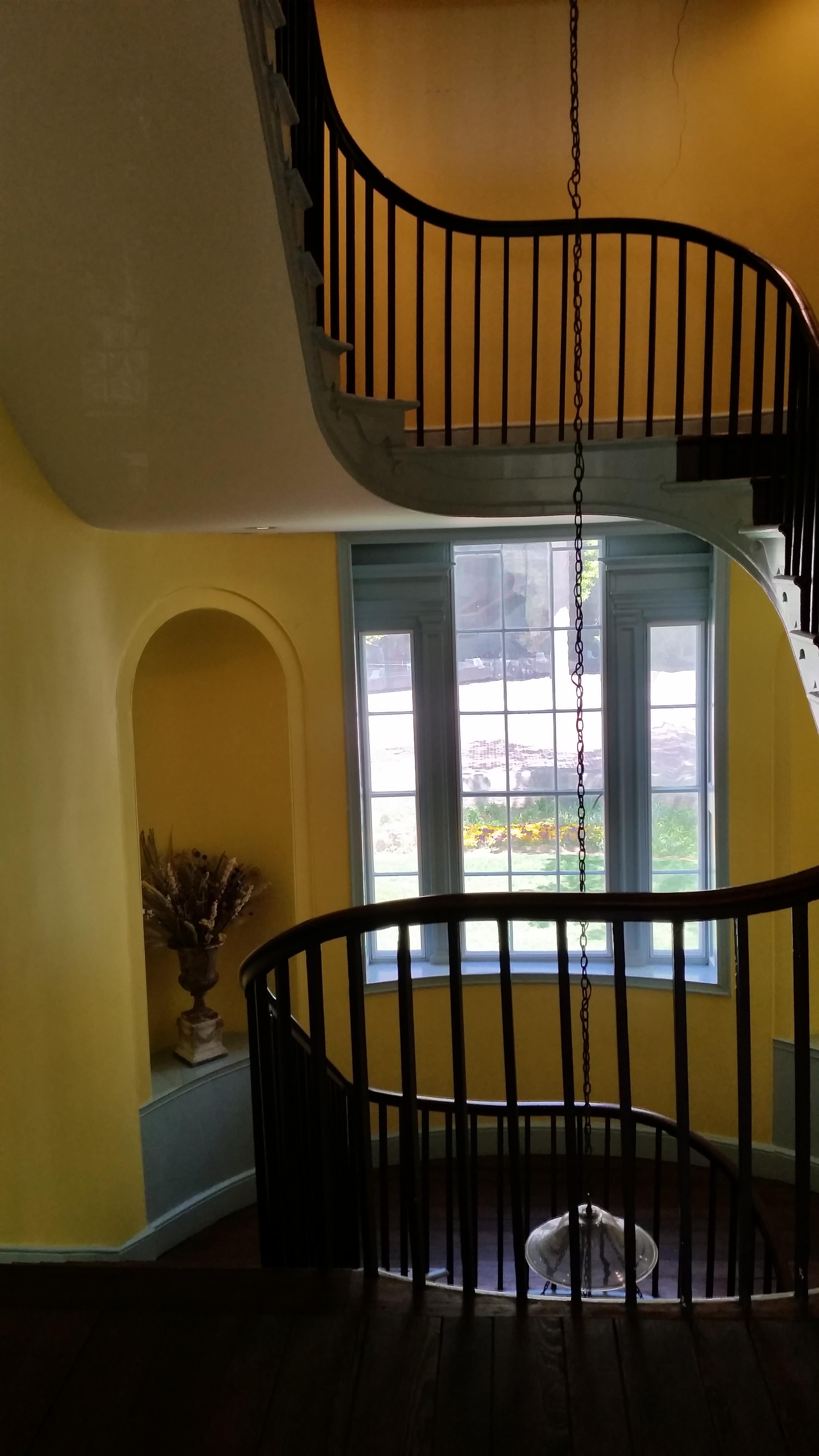 Stairway from second floor landing