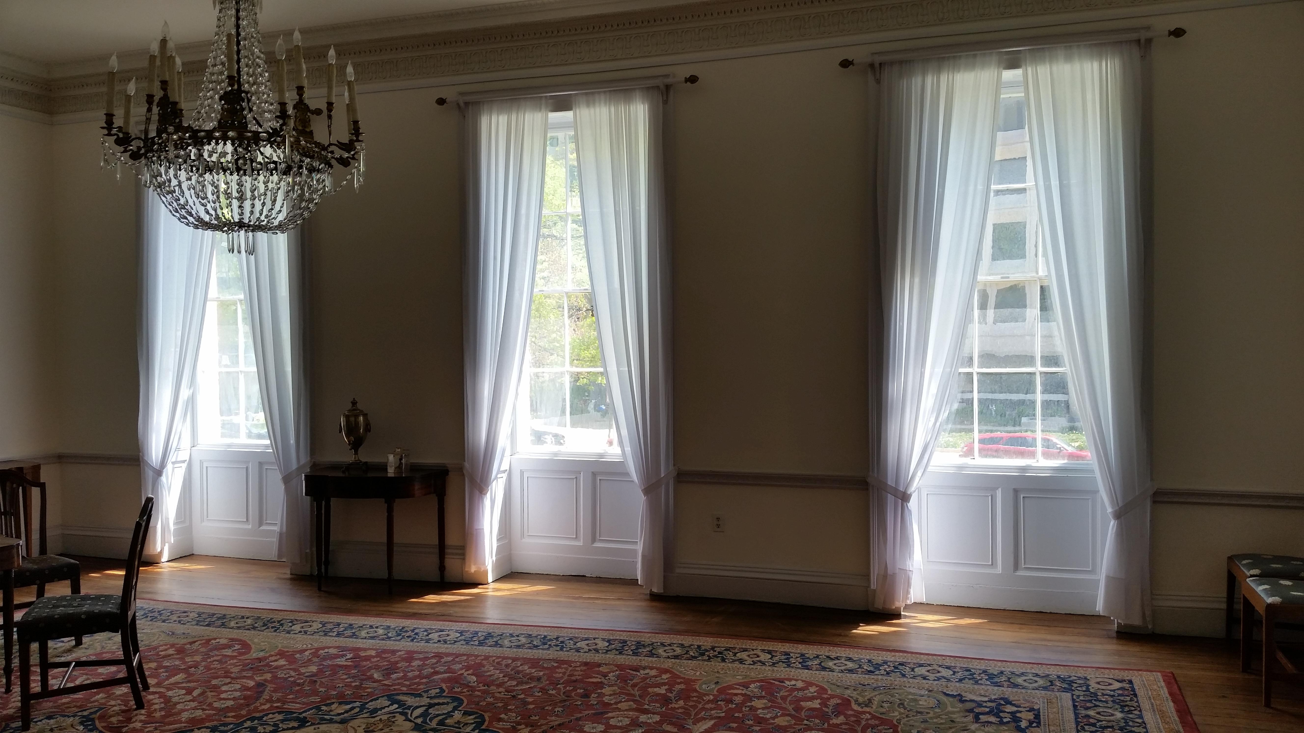 Drawing room windows