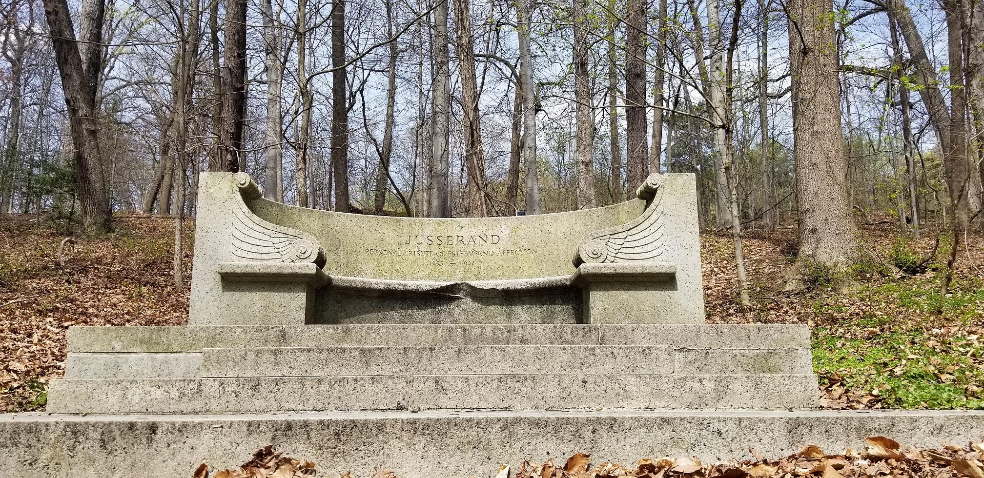 Jusserand bench memorial