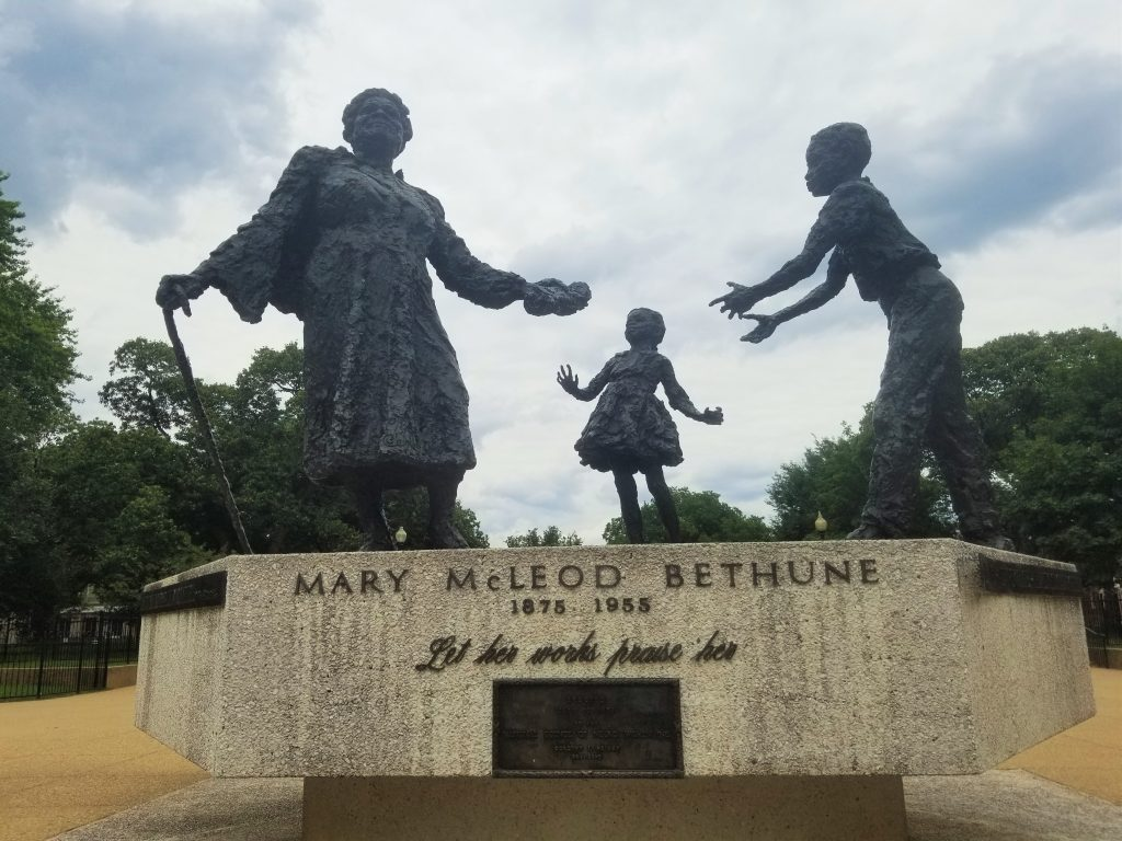 Mary McLeod Bethune Memorial in Lincoln Park, NE, Washington, D.C.