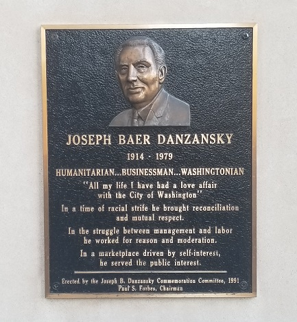 Danzanky plaque Willard Hotel