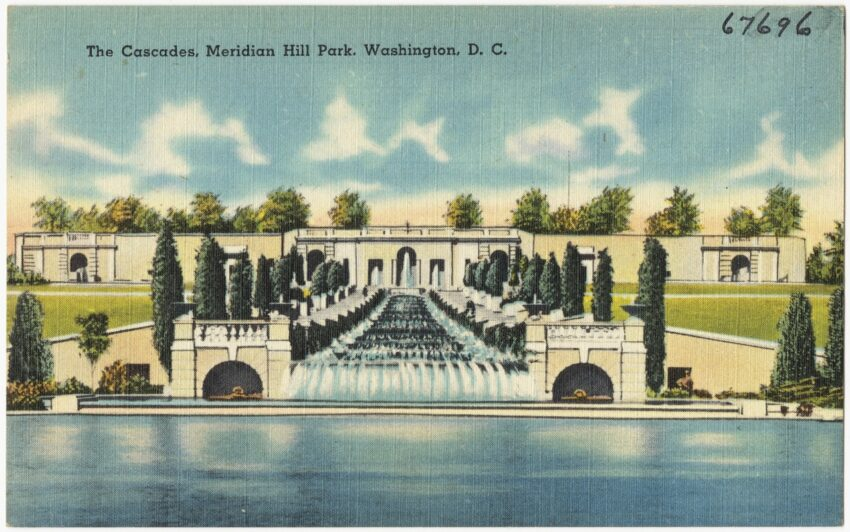 Postcard of the Cascades at Meridian Hill Park